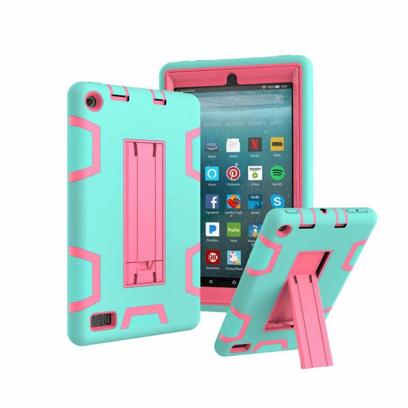 Shockproof Protector Case 3 in1 Robot Defender Robot Hybrid PC+Silicon Kickstand Stand Case For Kindle Fire HD7 HD8 2015 2016 2017 2019