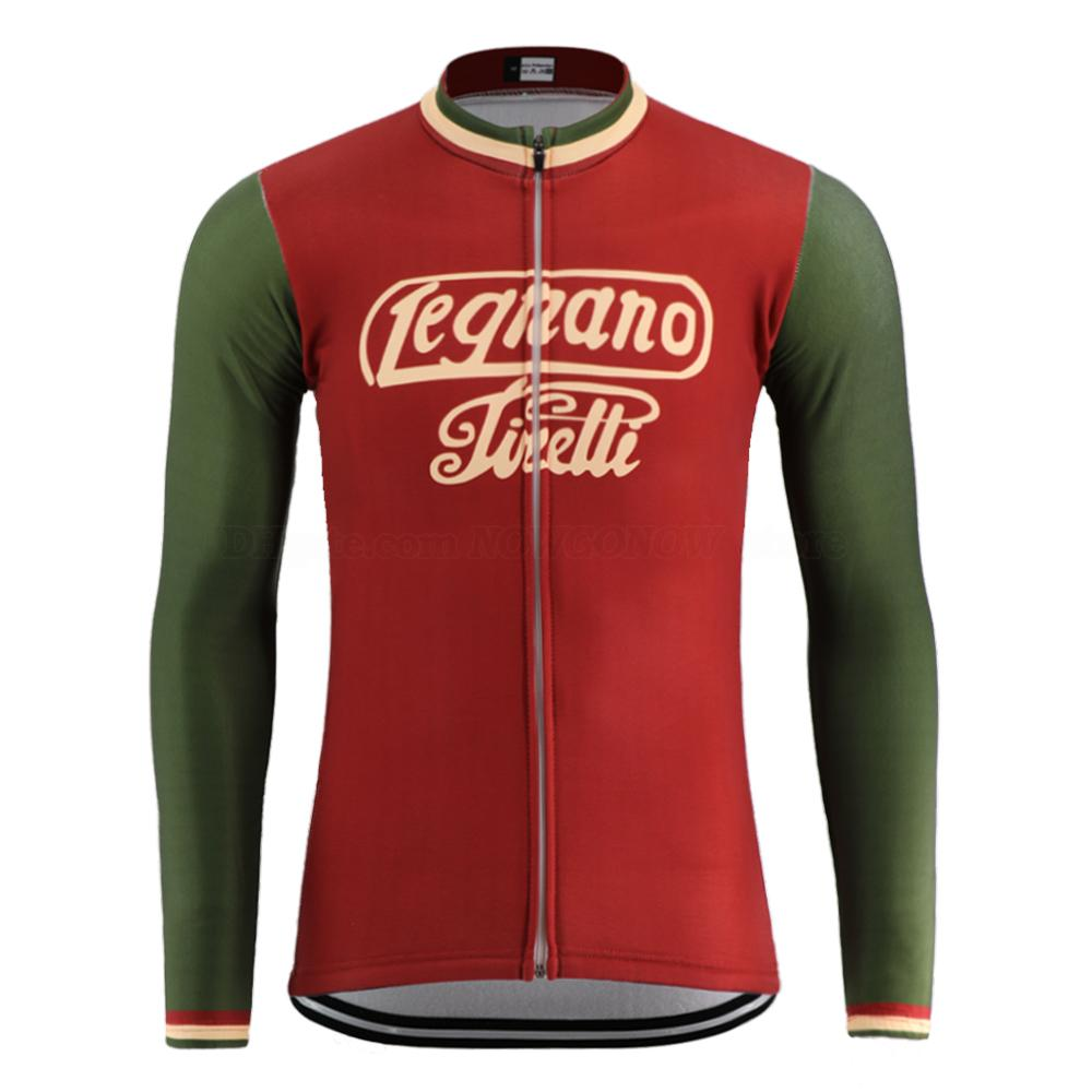 abiti in pile sottile bicicletta / inverno estate rosso 2020 NUOVO classica maglia retrò ciclismo pro team di uomini vestiti usura manica lunga strada bici da corsa
