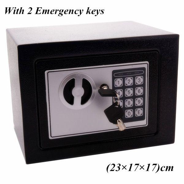 Password 17E elettronico digitale Cassaforte Blocco tastiera Ufficio Albergo Casa uso della pistola d'acciaio nero di monili della vigilanza di sicurezza della scatola di caso