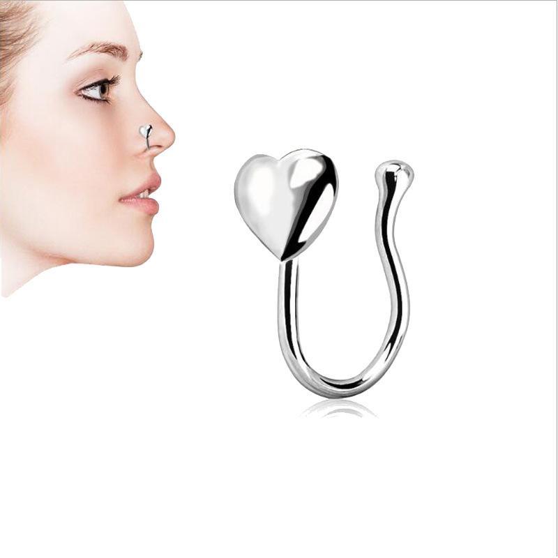 Nesee Earrings Seamless Hinged Segment Sleeper Clicker Ring Hoop Ear Lip Nose Septum Piercing Women Jewelry