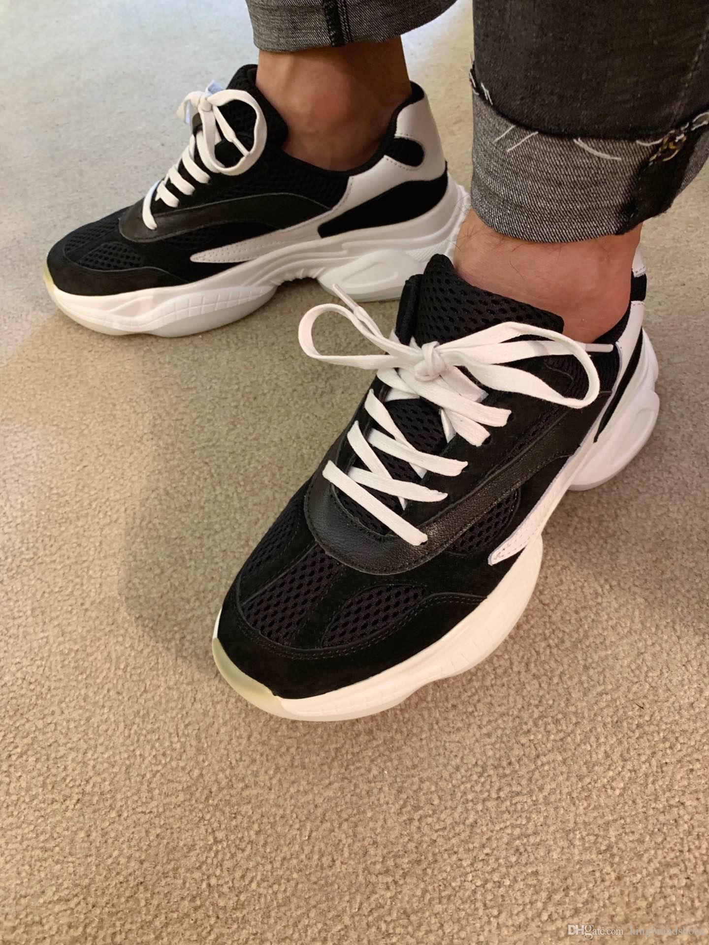 alta calidad 2019 de lujo más nuevo de hombre zapatos zapatillas de deporte respirables bajo-top de diseño de deporte de los hombres con cordones de los zapatos de lujo