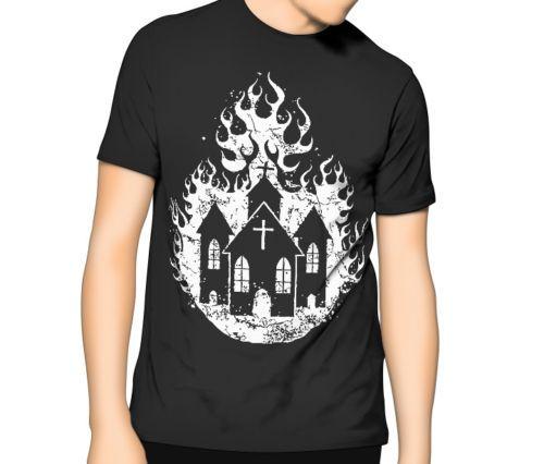 Nueva iglesia ardiente del verano de 2019 - Satánico Ocultismo Luciferian T-shirt S - 6xl | Xlt - 3xlt ropa casual de alta calidad