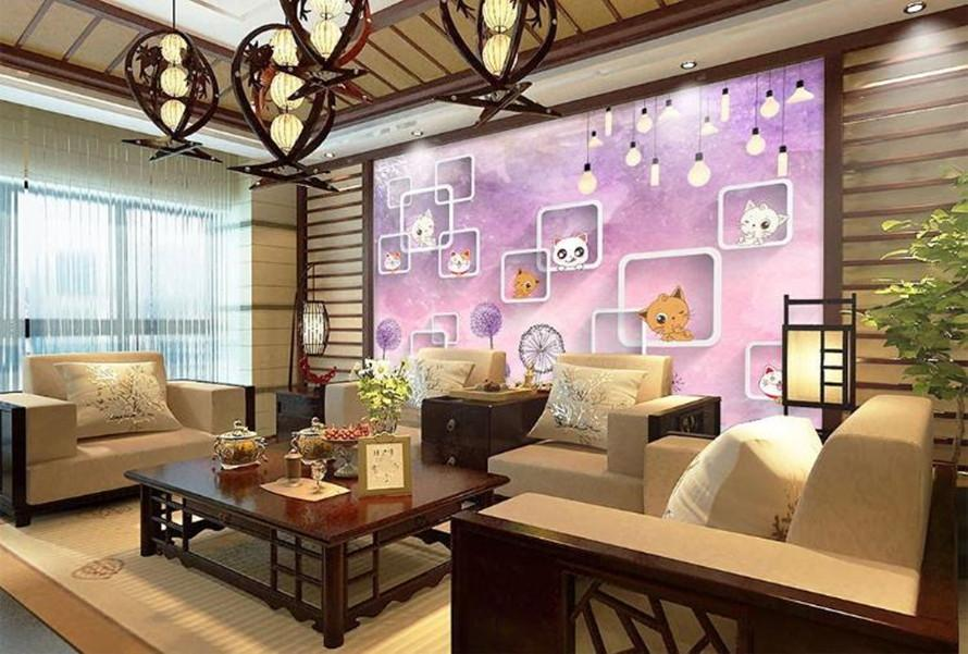 Encargo cualquier fondo de pantalla mural de la moda decoración acuarela gradiente de fondo de la pared de TV stereoact salón dormitorio fondo de pantalla 3d