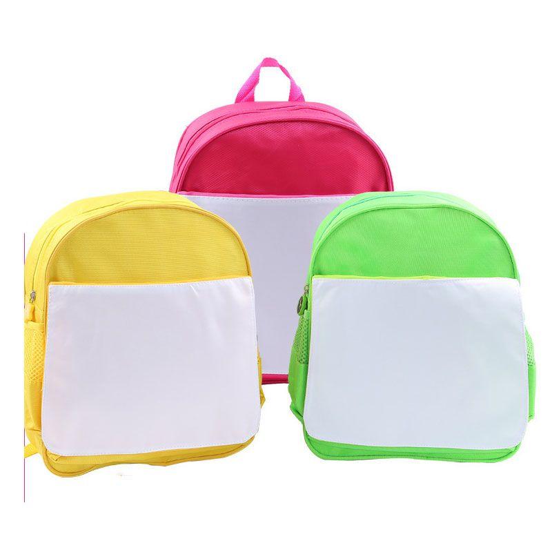 sublimazione vuoto bambini bambini zainetto sacchetto di libro asilo stampa a trasferimento caldo vuoto fai da te consumabili