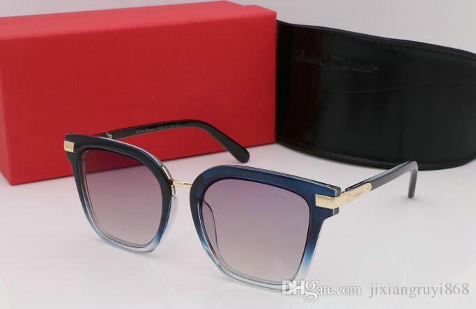 1pcs lunettes de soleil de qualité supérieure pour les femmes designer de mode SF or cadre en métal rouge coloré lunettes de soleil lunettes venir boîte