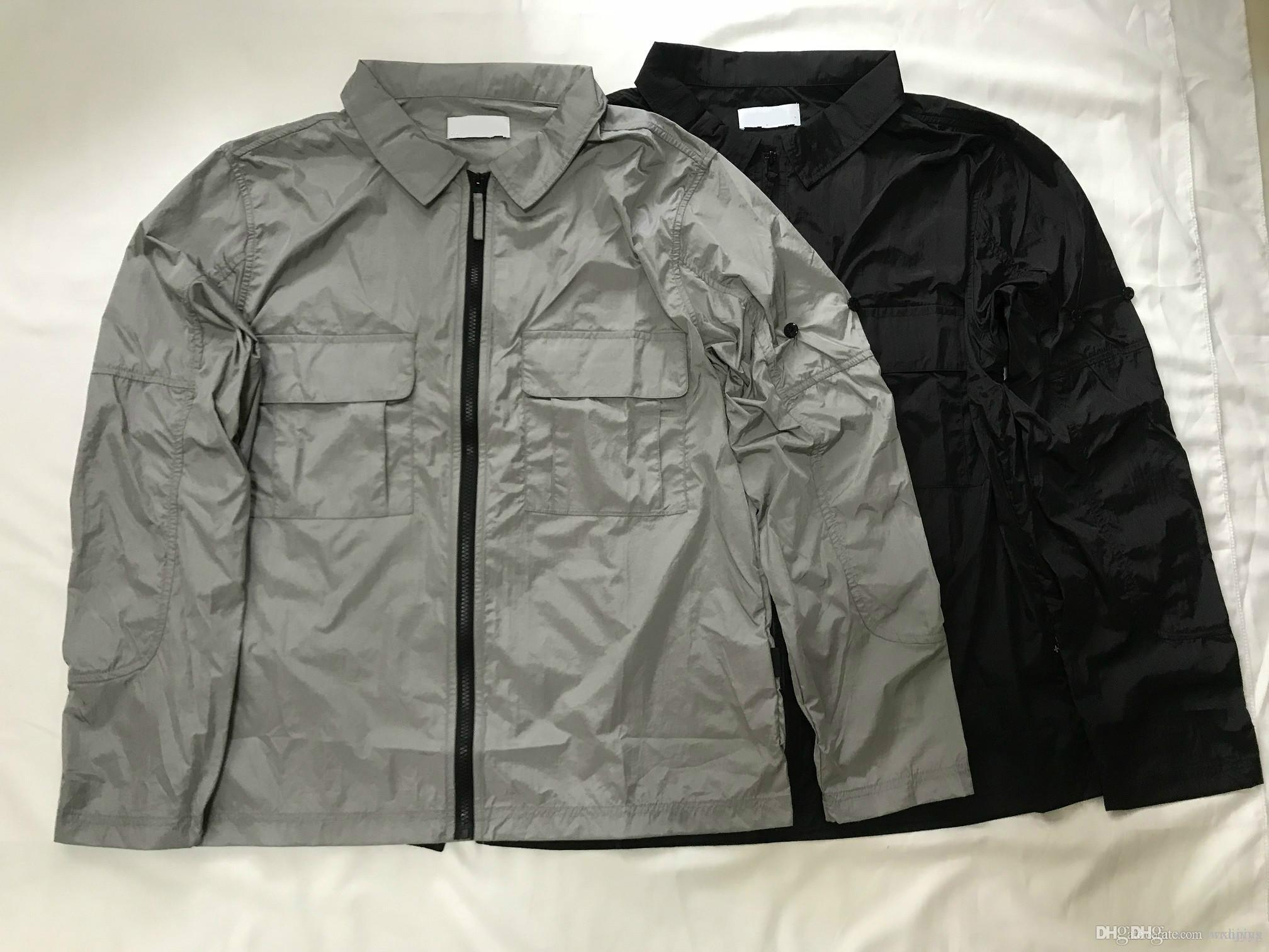 2020 hommes luxe occasionnels vestes de créateurs classiques hommes manteaux YKK en nylon métallique haut arment fermeture éclair logo OEM imperméable taille asiatique veste homme