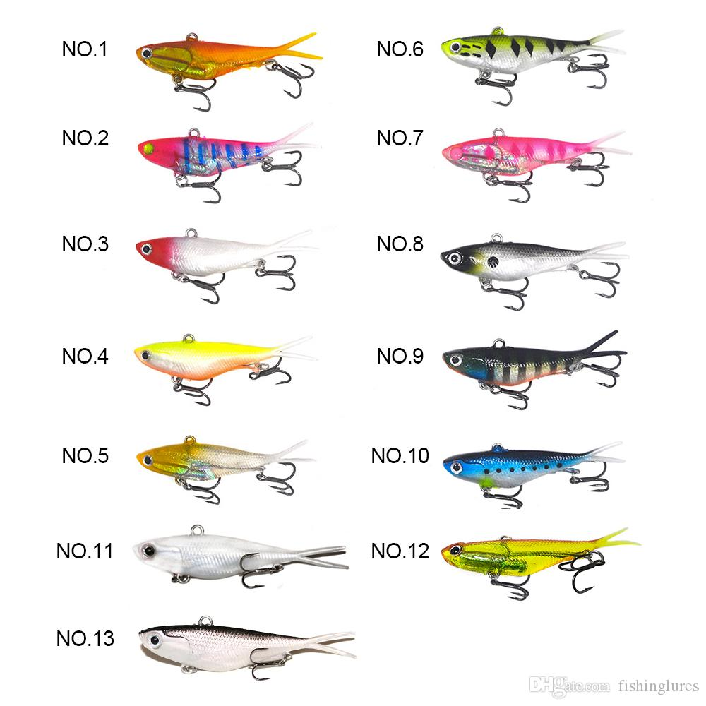 Soft vibe lures 20g 95cm saltwater fishing baits 3D eyes VIB fishing lures plastic vibe baits