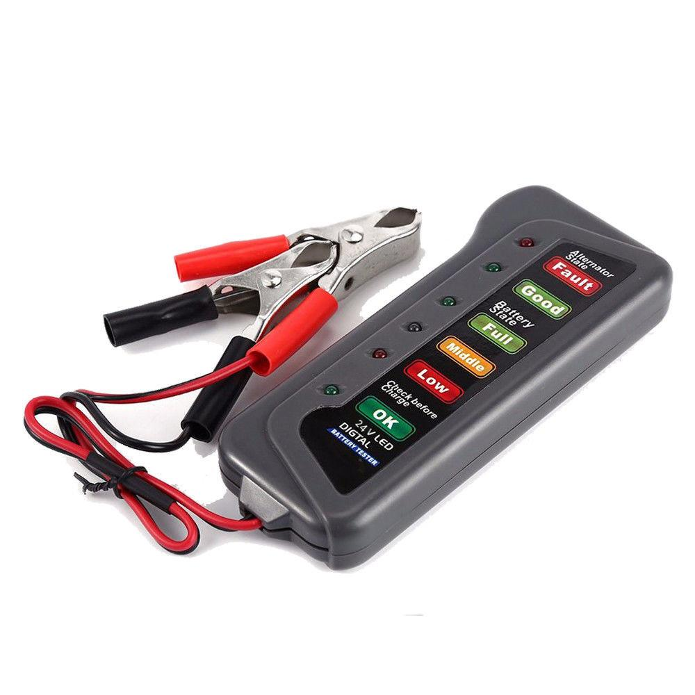 12V Auto Car Digital Battery Tester Alternator 6 LED Light for Cars Vehicle 12V Car Battery-Tester Diagnostic Tool Ancel