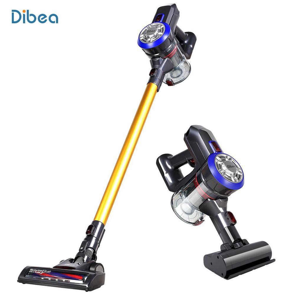 Dibea D18 de poche sans fil Aspirateur 2 en 1 Cyclone Filtre 120W 8500Pa forte aspiration Collecteur de poussière ménage Aspirateur
