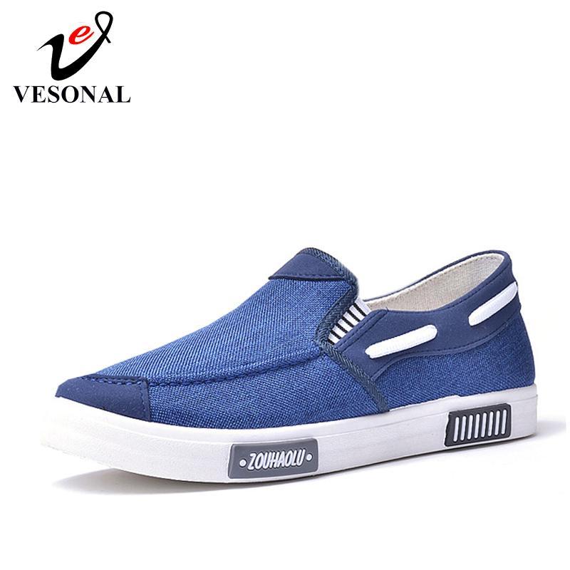 VESONAL 2019 Yaz Rahat Branda Sneakers Erkek Ayakkabı loafer'lar Makosenler hafif Kayma-On Işık Erkek Ayakkabı Casual Sürüş LY191210