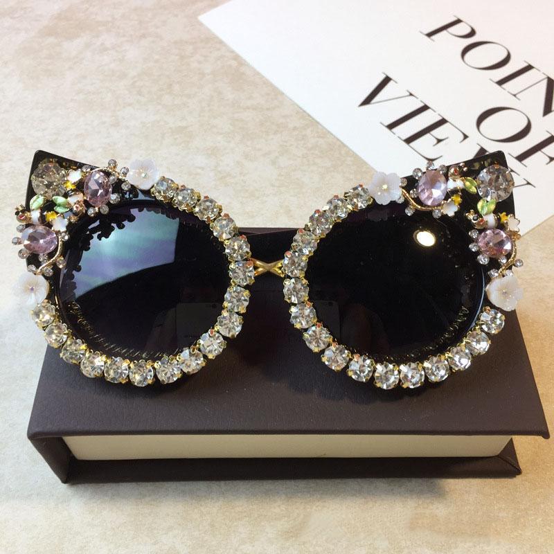 Zyhwlx Sun Glasses Women'S 2018 New Style Sunglasses Magazine Star Celebrity Style Exaggeration Cat'S Eye MkfIK