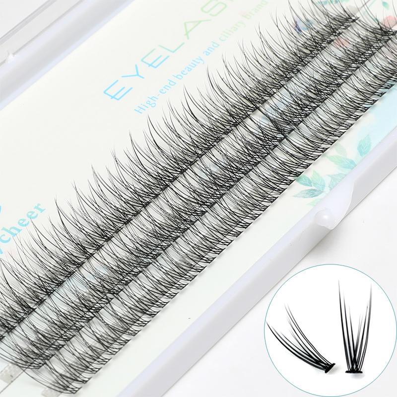 2019 Volume Soft Individual Eyelashes Extendion 0.07c 8/9/10/11/12/13mm Makeup False Eyelashes Cluster