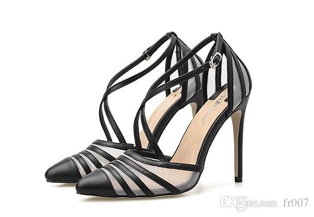 Sandali Delle Donne Più Il Formato 41 42 PVC trasparente Tacchi Alti 11 cm Scarpe Donna Star Stile Cinturino Alla Caviglia Sandali Gladiatore