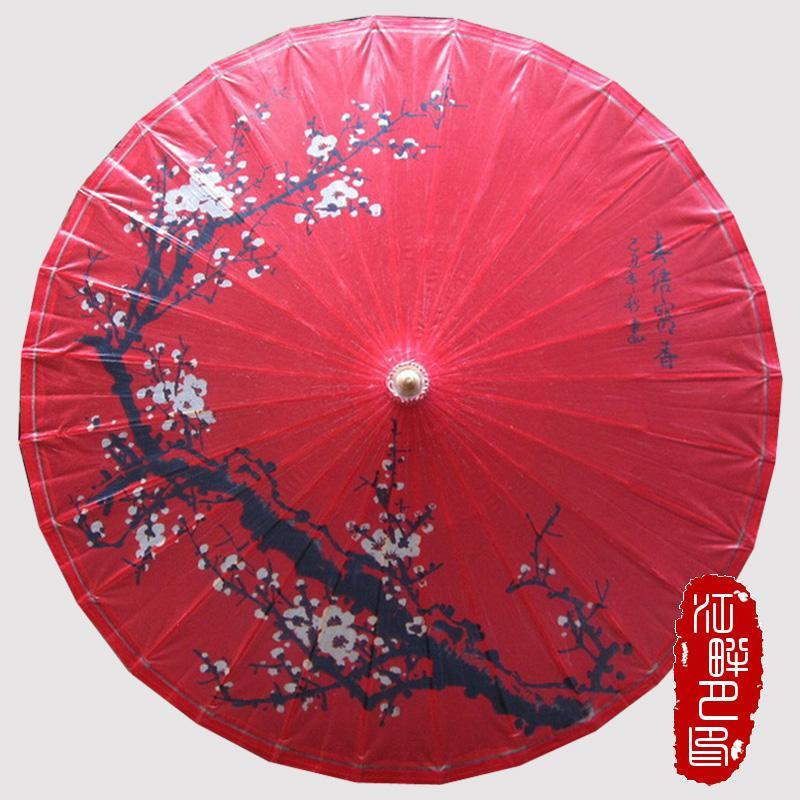 Kırmızı Yağ Kağıt Şemsiye Hong Yi Klasik Gelenek Şemsiye Antik Dans Cosplay Kırmızı Siyah Erik Düğün hange Dekorasyon