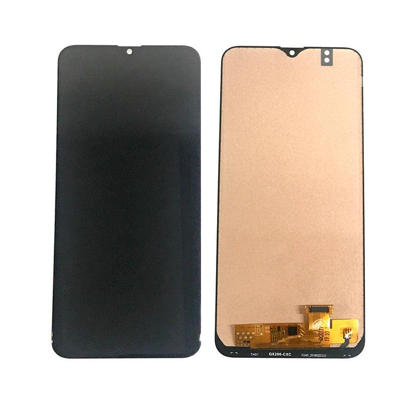 TFT LCD محول الأرقام INCELL العرض للحصول على سامسونج غالاكسي A20 6.39 بوصة مع الضوء الأزرق وظيفة استبدال أجزاء الأسود