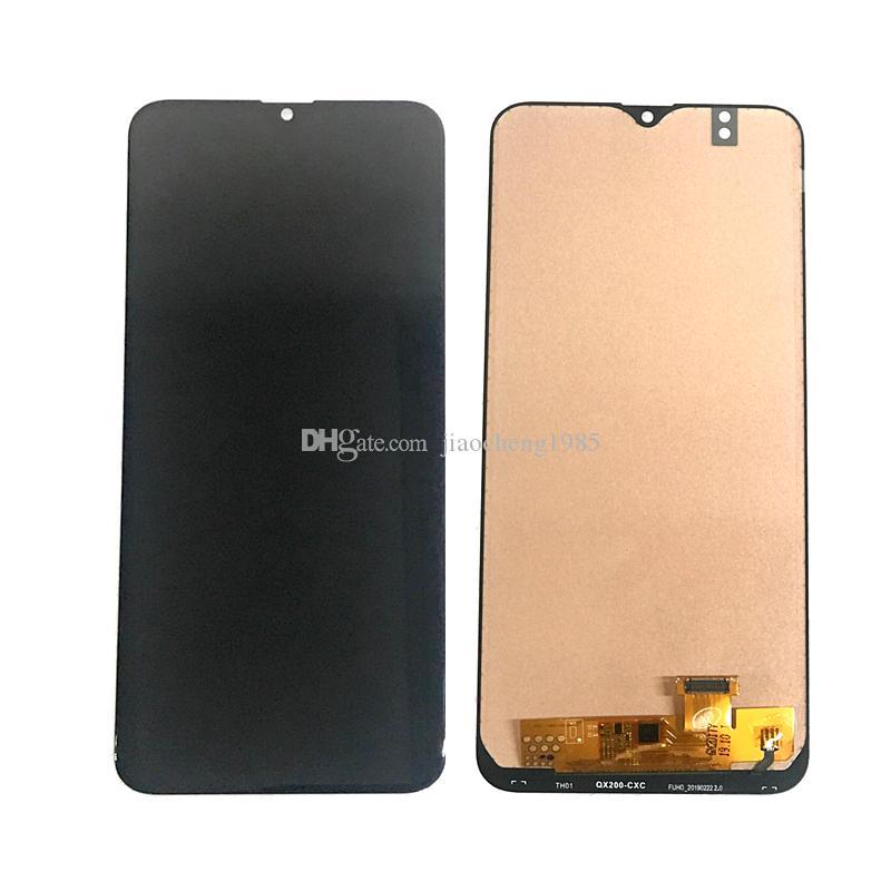TFT Hücre İçi Suya LCD Ekran Sayısallaştırıcı için Samsung Galaxy A20 6.39 İnç ile Mavi Işık Fonksiyon Yedek Parçalar Siyah