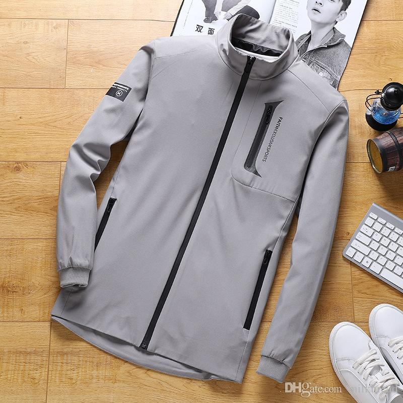Mantel Saison Männer Casual einmaliger Anstrich Saison Jacke der Männer dünne Schicht L-9XL Versand ist kostenfrei bei hochwertigem Designer-Kleidung