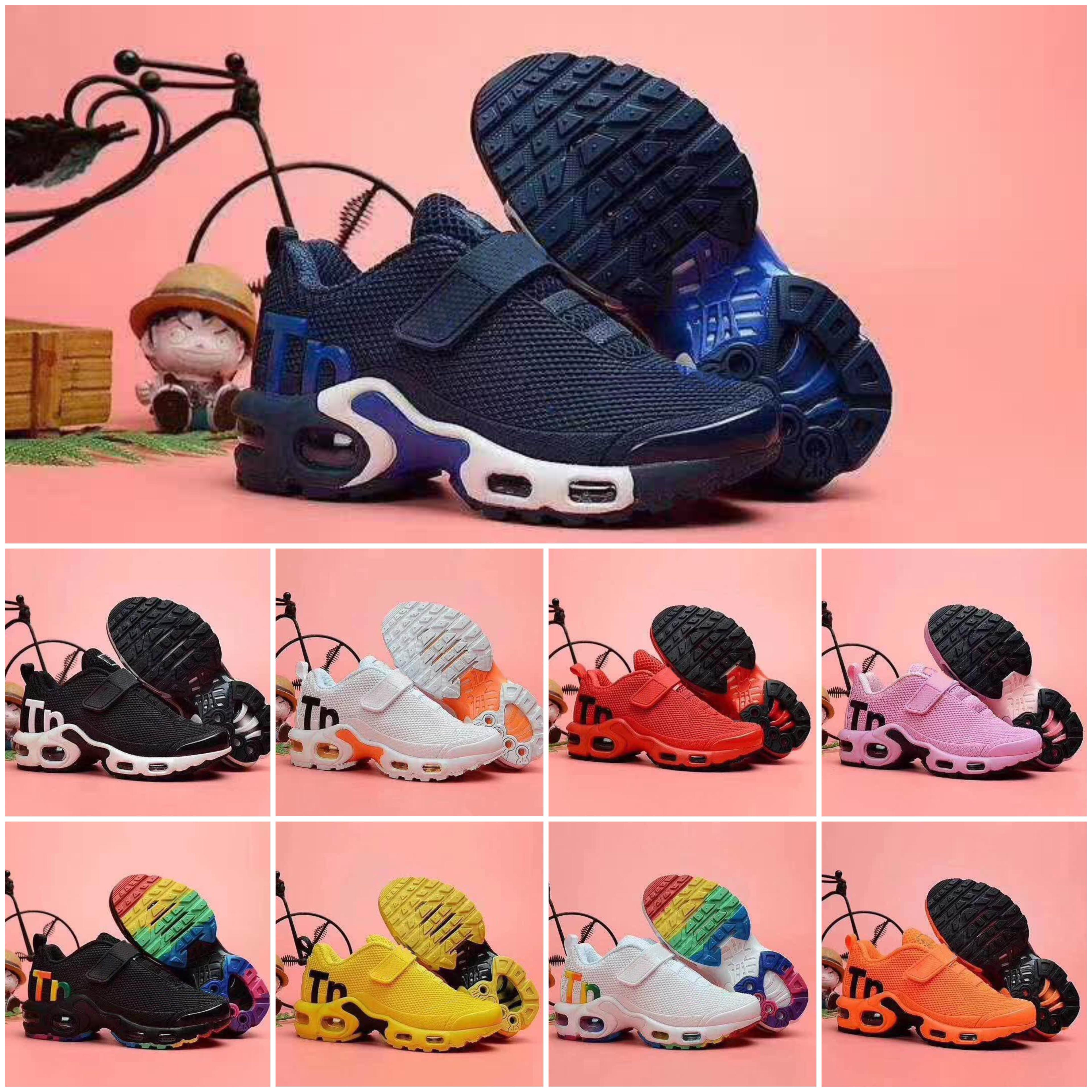 Nike Air TN Plus vendita calda 2020 bambini bambino più tn ragazzo scarpa ragazza Per i bambini classico padre-figlio atletica mix all'aperto sneaker scarpe casual nere