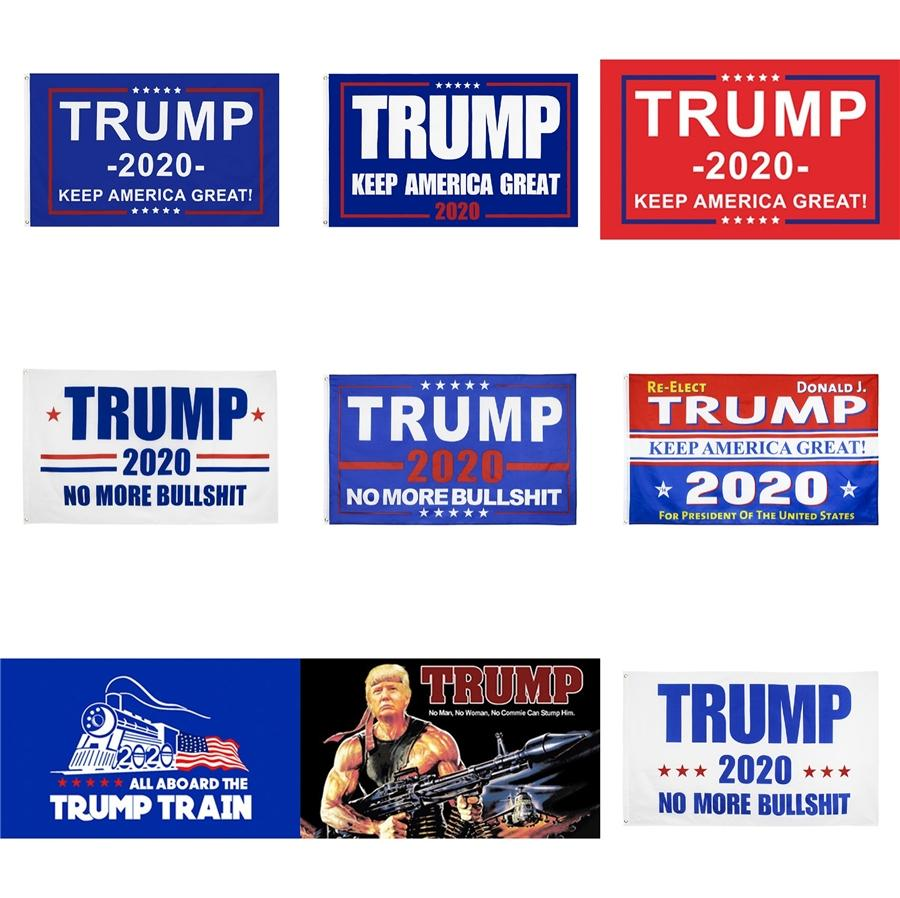 Выборы в США Trump 90 * 150см рук развевающийся флаг Баннер 2020 Trump Hand Flag # 650