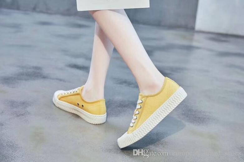 Retro klasik kanvas ayakkabılar Bağcıklı düz taban ayakkabı