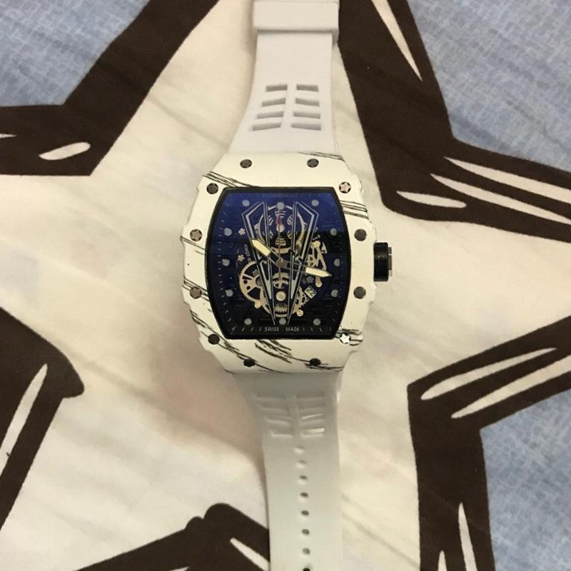 Richard Moda Hombres Relojes Montre Homme banda de silicona reloj del cuarzo del hombre de moda de lujo impermeable de los deportes hombre hombres Reloj Reloj
