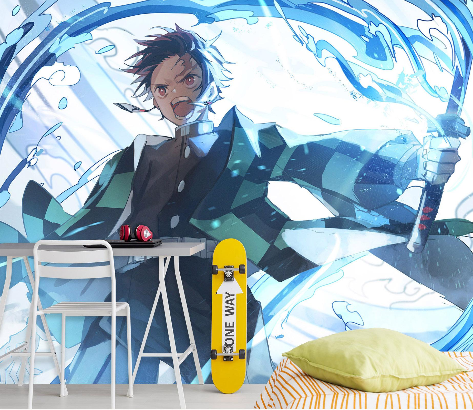 [Auto-adhésif] 3D Kimetsu No Yaiba 0250 mur murale papier mur Imprimer Decal Photo murales Muzi