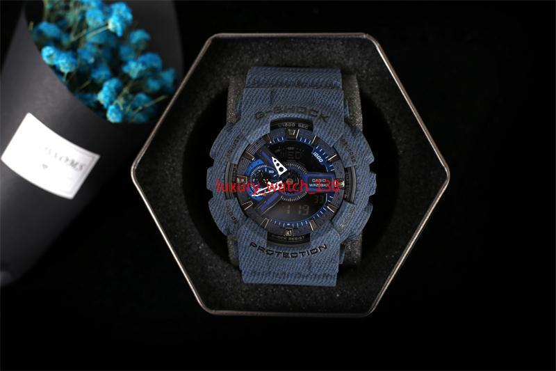 2019 Nuovi colori di alta qualità auto light orologio di moda relogio 11000 con orologi sportivi da uomo in scatola resistenti all'acqua, tutti i piccoli quadranti funzionano