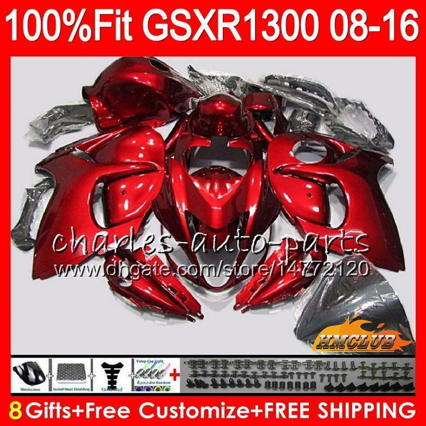 Inyección para SUZUKI GSXR1300 Hayabusa 08 09 10 2008 2009 2010 25HC.86 GSXR 1300 rojo brillante GSXR-1300 11 12 13 2011 2012 2013 Carenado OEM