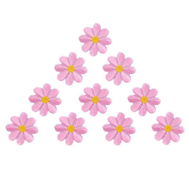 10pcs bordado apliques de flores Parches decoración del arte