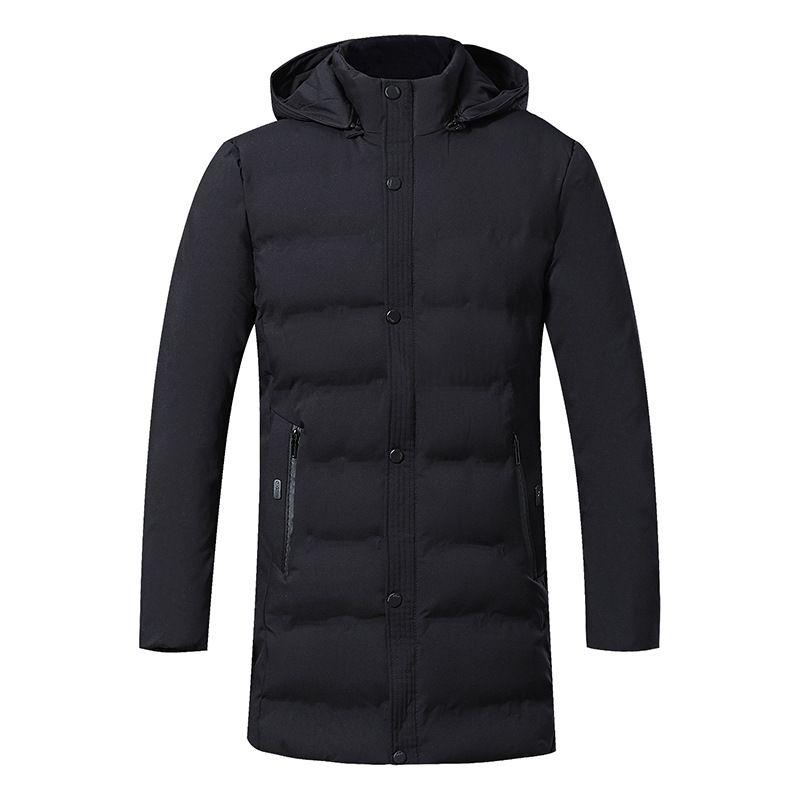 2019 neue Männer Winter-Daunenjacke Qualitäts-starker Winter-Middle-Aged warmen langen Mantel-Baumwollkleidung Männer Parkas Large Size 5XL