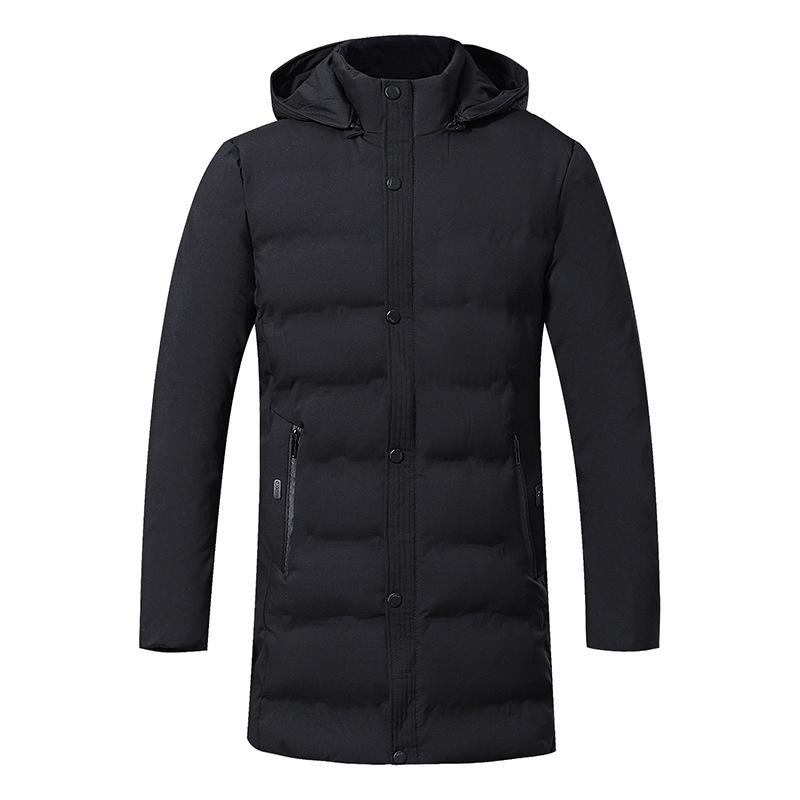 2019 Inverno Down Jacket Men Novo alta qualidade Grosso Inverno de meia idade longo casaco quente roupas de algodão Homens Parkas Tamanho Grande 5XL