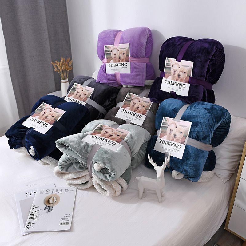 Взвешенная фланель Руно Одеяло Зима Adult Soft Толстые Sherpa Бросьте одеяло для кровати диван Couch