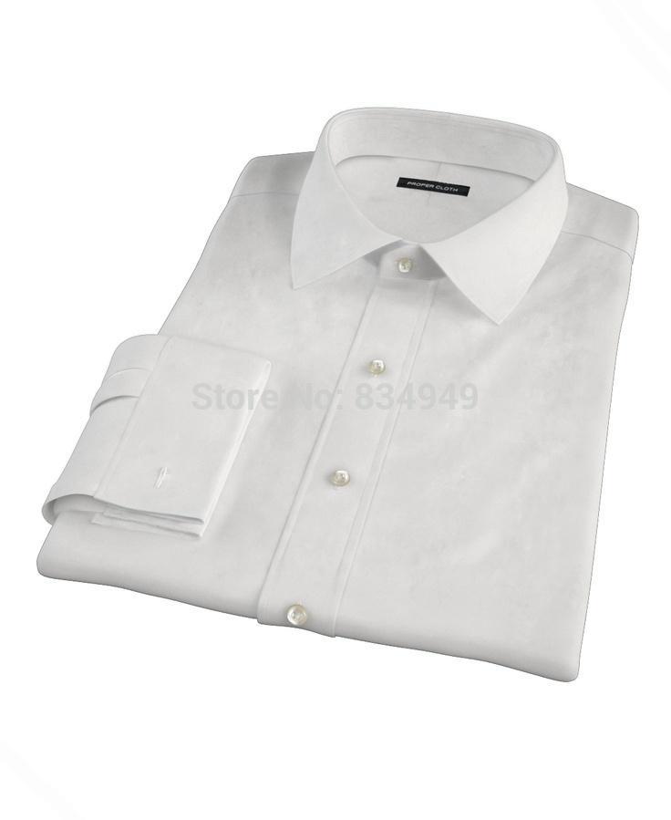 Tailored Shirts 2018 Custom Made White Long Sleeve Mens Dress Shirt Wedding Men Chemise Homme Manche Longue De Luxe MX200518