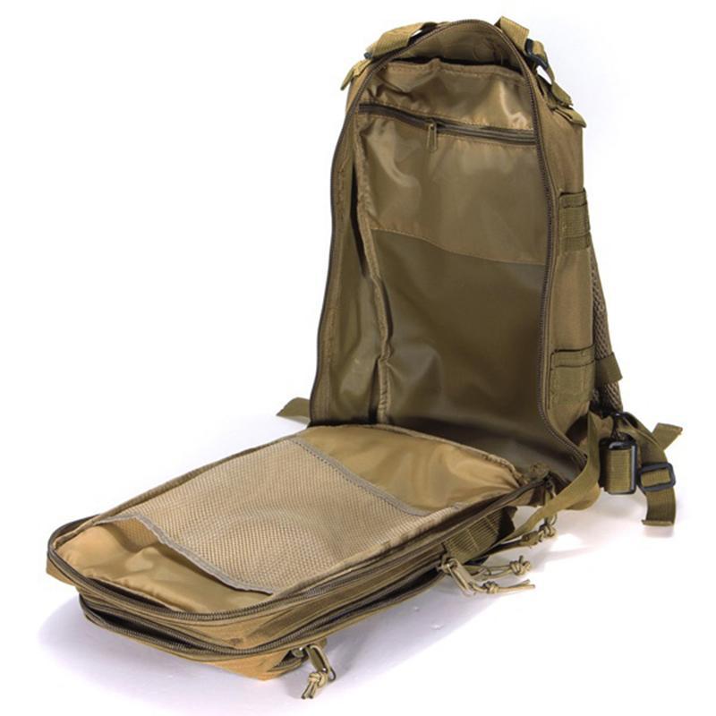Sac à dos militaire tactique en nylon Sac étanche Armée Sac à dos Sports de plein air Camping Randonnée Pêche Chasse Camouflage Rucksack