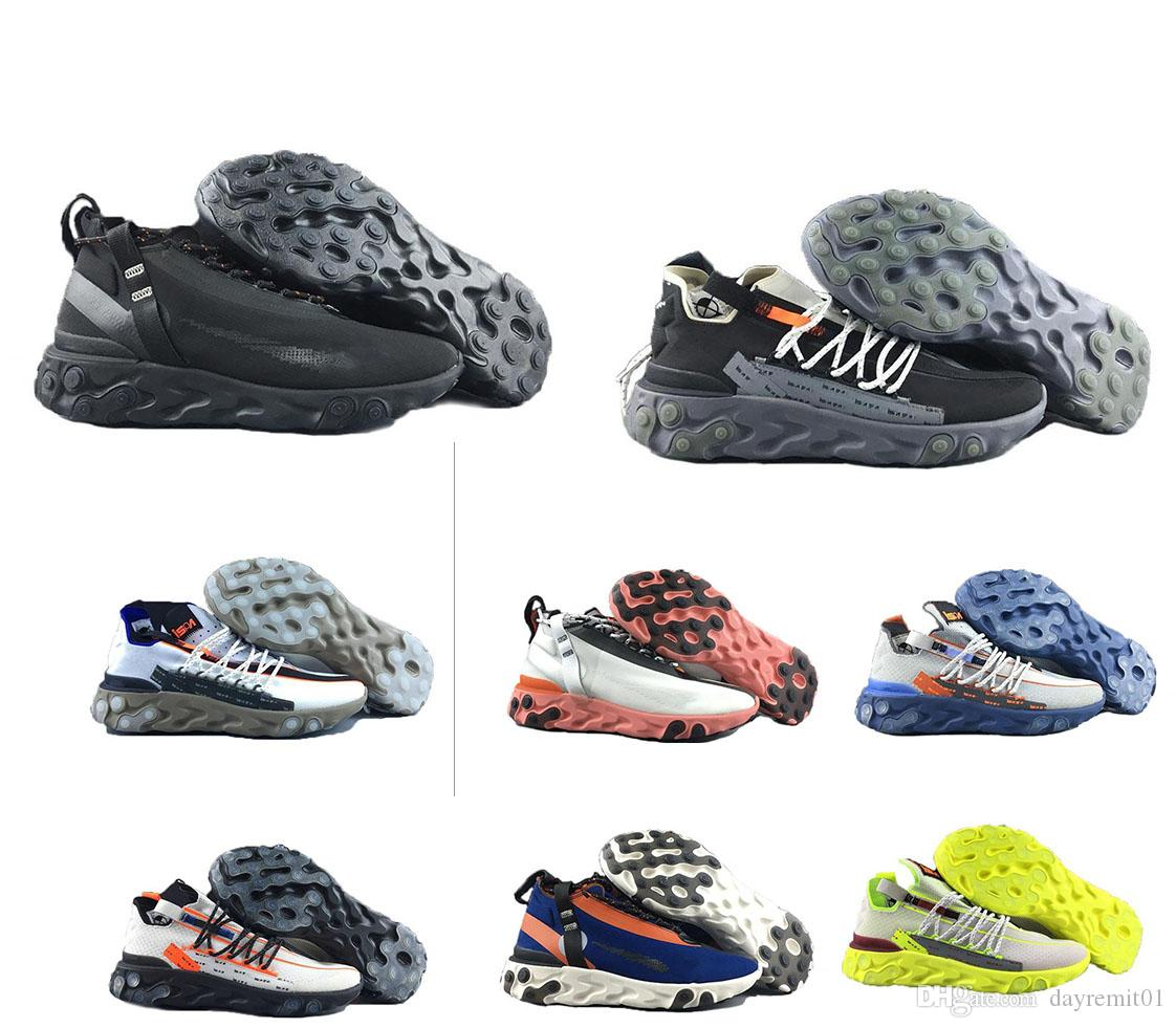 2019 sapatilhas do desenhista New Reagir LW WR Mid Low ISPA Running Shoes Único Designer Homens Mulheres Formadores Sports Sneakers
