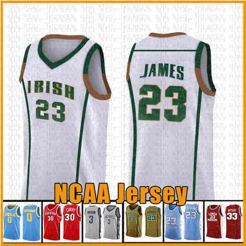 23 GREEN LeBron James 13 NCAA Harden Basketball Jersey Arizona University Staat Bethel Irish Schule 2 Leonard 3 Wade 11 Irving 30 Curry