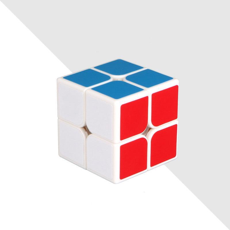 2X2 магический куб 2 на 2 куба скорости 50мм карманный стикер головоломка куб профессиональных развивающих игрушек для детей