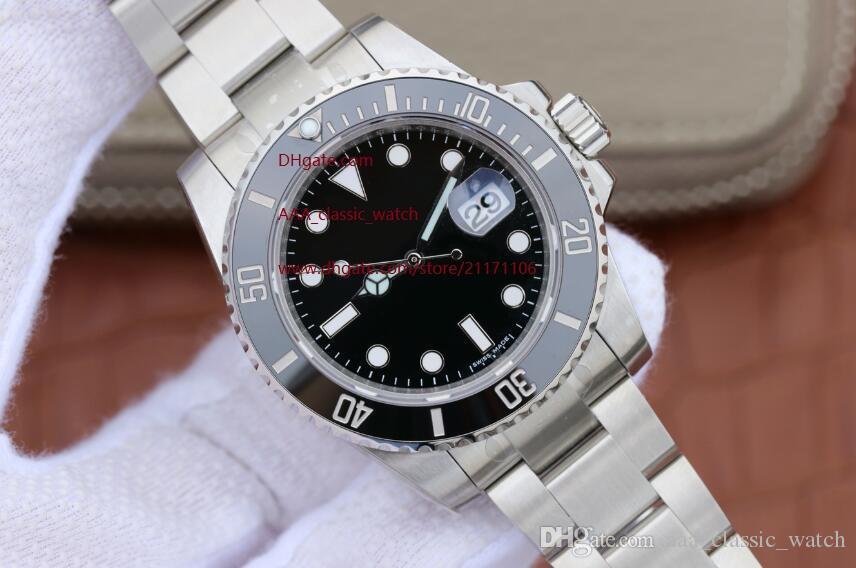 dos homens de alta qualidade Sapphire mecânico automático 116.610 40 milímetros Preto Cerâmica Bezel Dial do Mens Men Luminous Watch Watches