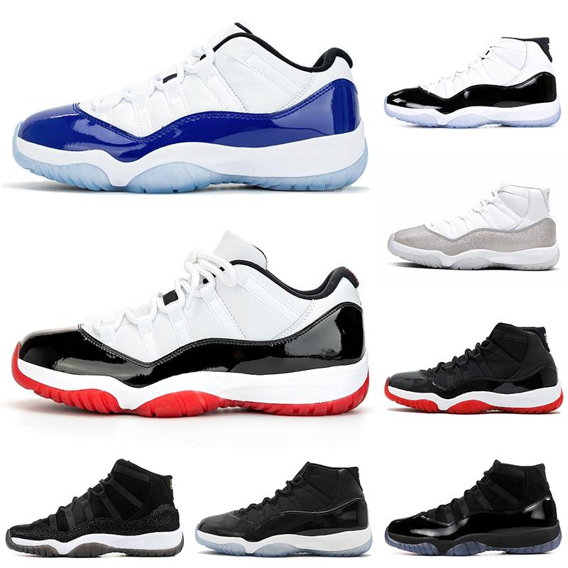 2020 New Concord 11s mens basketball shoes 11 Metallic Silver White Bred Cap and Gown Heiress Snakeskin High Low men women Sports Sneakers