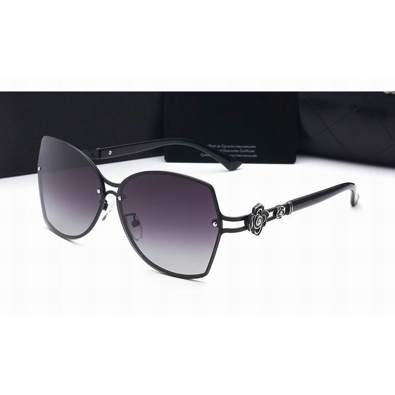 Polarizada boa qualidade Tamanho Grande Óculos de sol óculos de sol para senhoras TAC Lens metal Bracket No. 2617