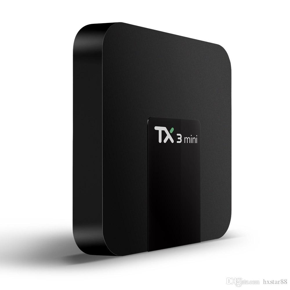 TV Box Tx3 Mini 1GB 8G 2g 16g bt Best Android 7.1 tv box support 4K H. 265 1080P HD video string
