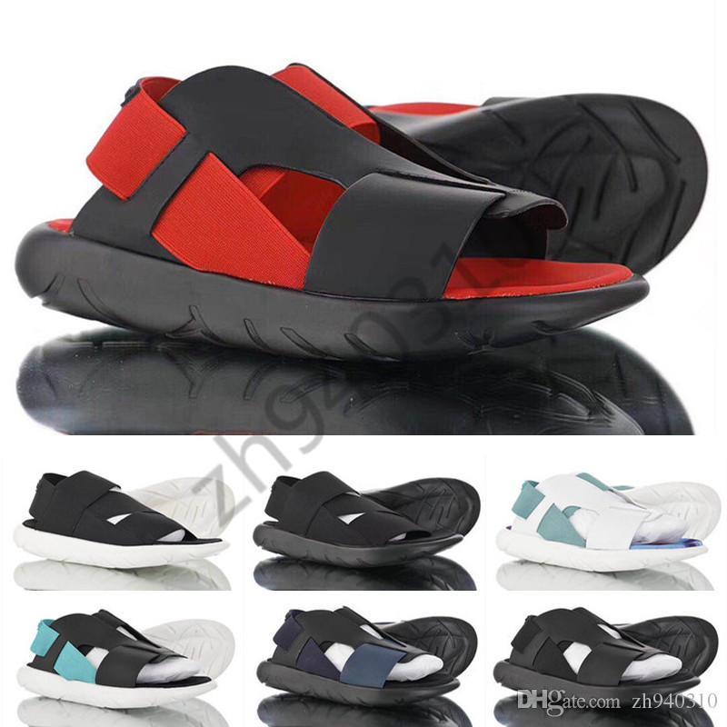 2019 Yaz Y-3 Qasa Sandal Siyah Yeni y3 Erkekler Kadınlar Için Sandalet KAOHE Y3 Terlik Elle Streç Sıcak Satış boyutu 36-45
