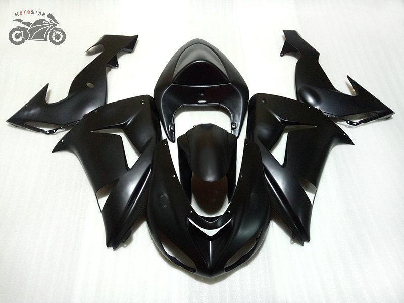 carenagens livre costume chinês para Kawasaki Ninja ZX10R 2006 2007 fosco motocicleta preta carenagem ZX10R carroçaria 06 07 ZX 10R