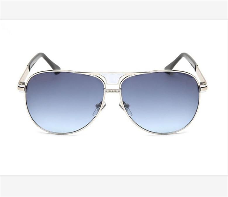 Fashion Aviator Men's Sunglasses Designer Glasses Metal Frame Purple Glass Lens UV400 High Quality Driving Boutique Sunglasses