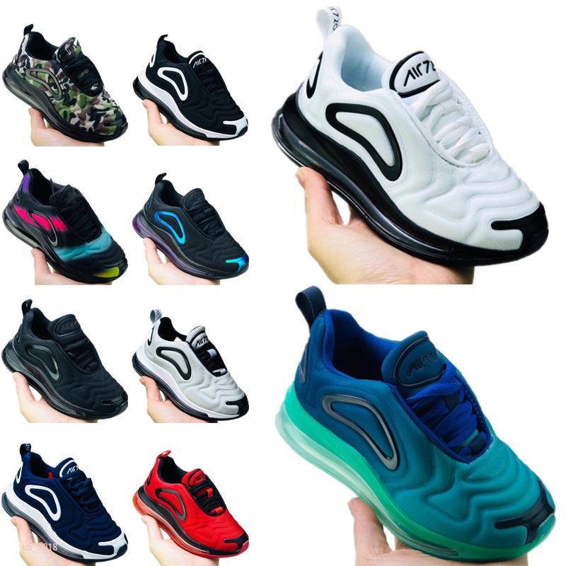 Nike Air Max 720 Ayakkabı Runner Gençlik Spor Sneakers Çocuk Basketbol Ayakkabı Casual Bebek Ayakkabı 28-35 Running 2020 Çocuk