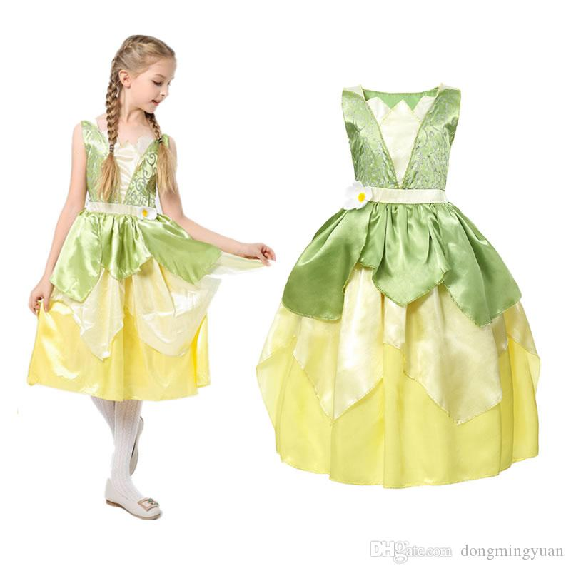 Kids Girls Princess Costume Fancy Dress Carnival Christmas Party Cosplay Clothes