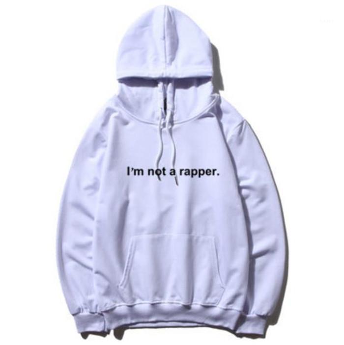 Ein Rapper lose Mens starke Hoodies Frühling Winter Langarm Printed Paare Sweatshirts Designer-Jacke Ich bin nicht