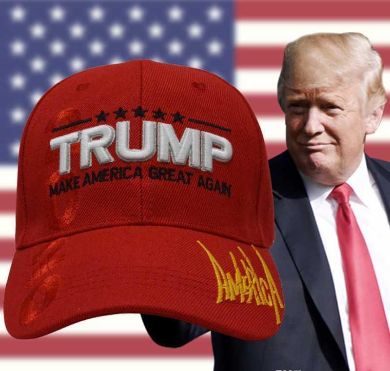Yeni sıcak satış Makyaj Amerika Büyük Yine Şapka Donald Trump Şapkalar MAGA Trump Destek Beyzbol Spor Beyzbol Caps Caps