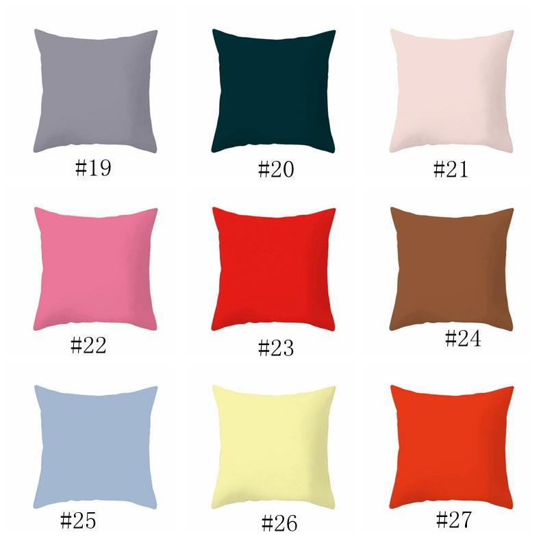 Pillowcase Home 45 * 45cm Home Sofá Lance Fronha Pure Color Polyester Branco Travesseiro Tampa Capa de Almofada Decoração Descanso Caso Em Branco EEA468