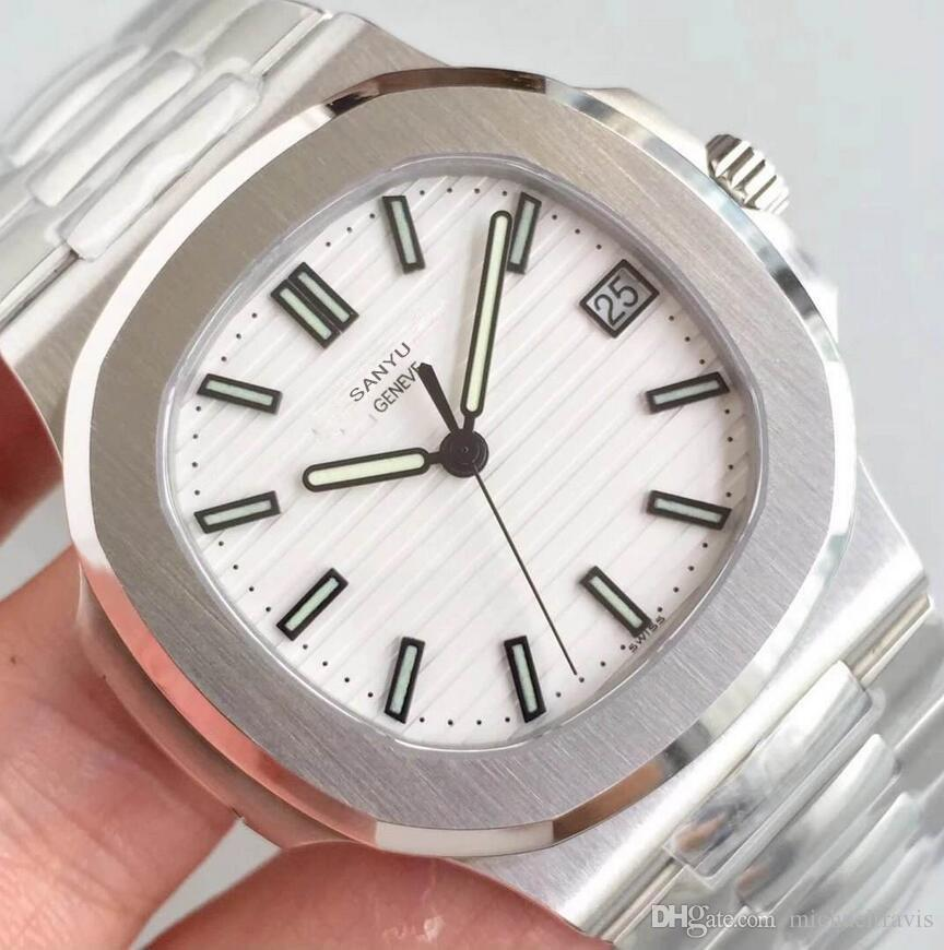 PP nueva moda de alta calidad 40mm exclusivo deporte 5711 clásico maestro reloj de pulsera mecánico automático